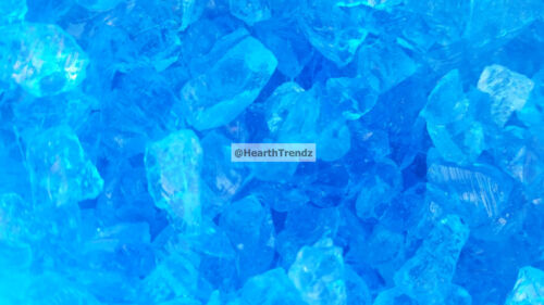 """Turquoise Premium Fire Glass For Pits 1//4/""""  Made In USA 10lbs"""