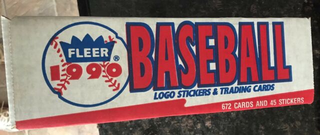 NIB 1990 FLEER BASEBALL CARD COMPLETE FACTORY SEALED SET 672 CARDS 45 STICKERS