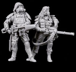 1-35-Resin-Zombie-Killer-2-Warriors-unpainted-unassembled-BL266