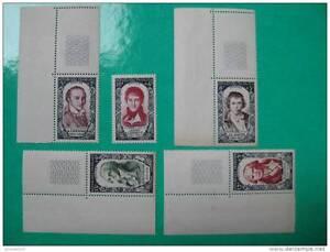 timbres-France-celebrites-du-XVIII-siecle-1950-Y-amp-T-n-867-872