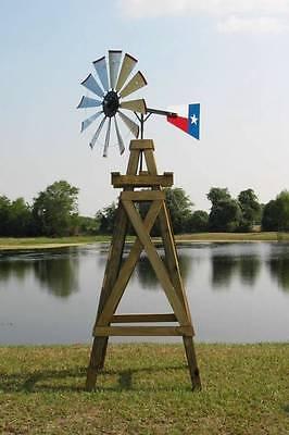 "38"" Windmill Head Kit, Galvanized Steel Blades Material List DIY 11' Decorative"