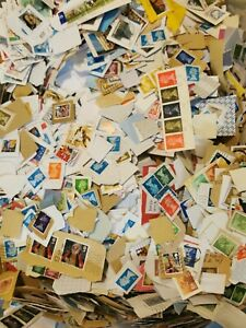 1kg GB British Stamps Kiloware Charity on/off paper mixed lot collection