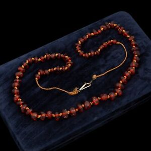Vintage Baltic Amber Deco Necklace