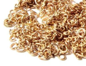 (1000) 4mm vintage gold tone metal jump split ring loop jewelry making findings