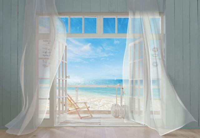Komar Fototapete Malibu Bay View California Beach Fenster 254 x 368 cm 8-956
