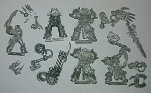 Multi-listing-of-Chaos-Space-Marine-Metal-models-cleaned-of-paint-RARE-OOP