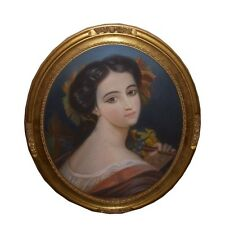 PASTEL ANCIEN FEMME ELEGANTE MARIE JEANDEL 1882