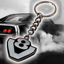 V8 Schlüssel Anhänger Emblem Zeichen Chrom Schriftzug Auto Aufkleber Logo 3D US