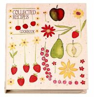 Meadowsweet Kitchens Recipe Card Cookbook Organizer - Fruit `n Flowers , New, Fr