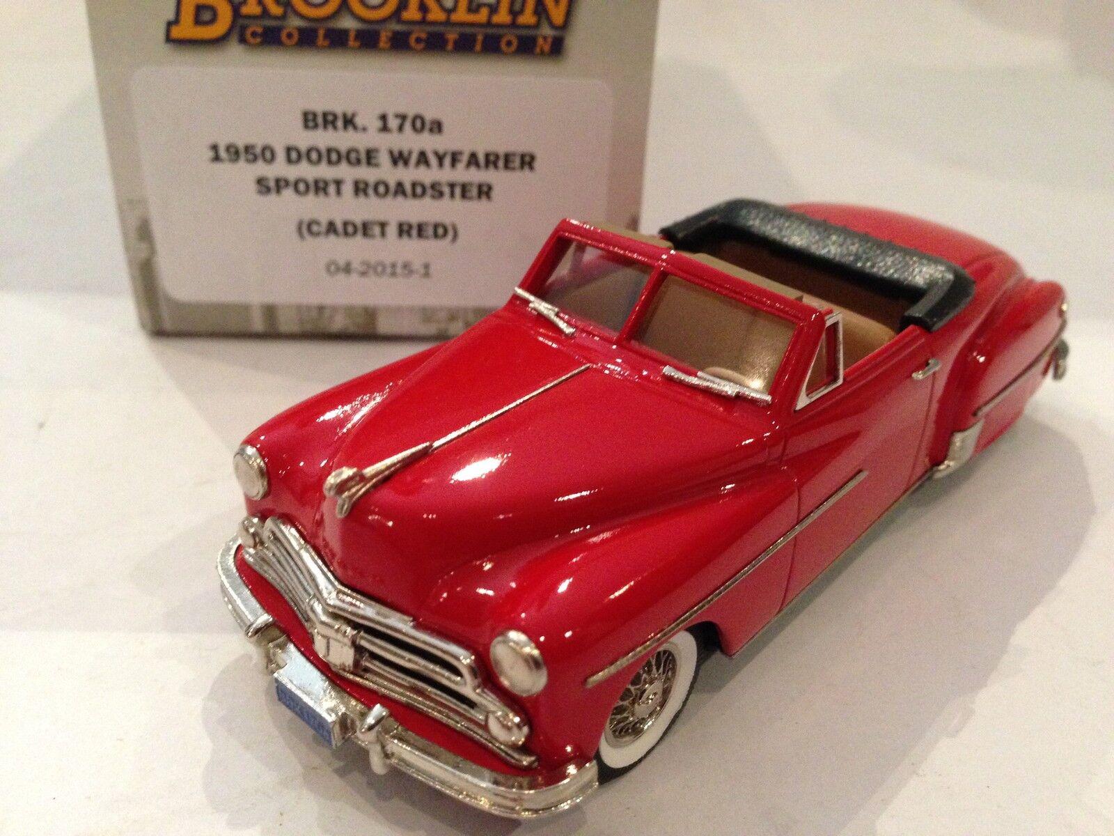 1   43 brooklin 170a dodge wayfarer sport roadster 1950 kadett rot