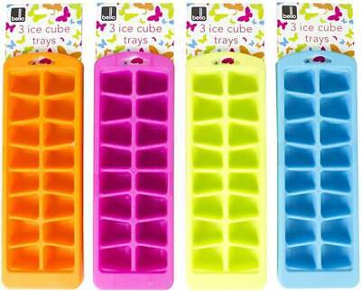 Silicone Soft Splash Ice Cube Tray Flexible With Various Colour 1 X Assorted