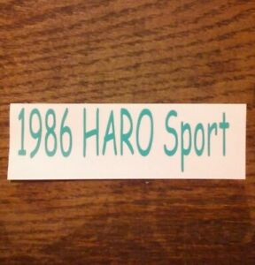 """NEW Green Vinyl Decal Vintage Style Haro BMX Freestyle Bicycle 2 3//8/""""×1 3//16/"""""""