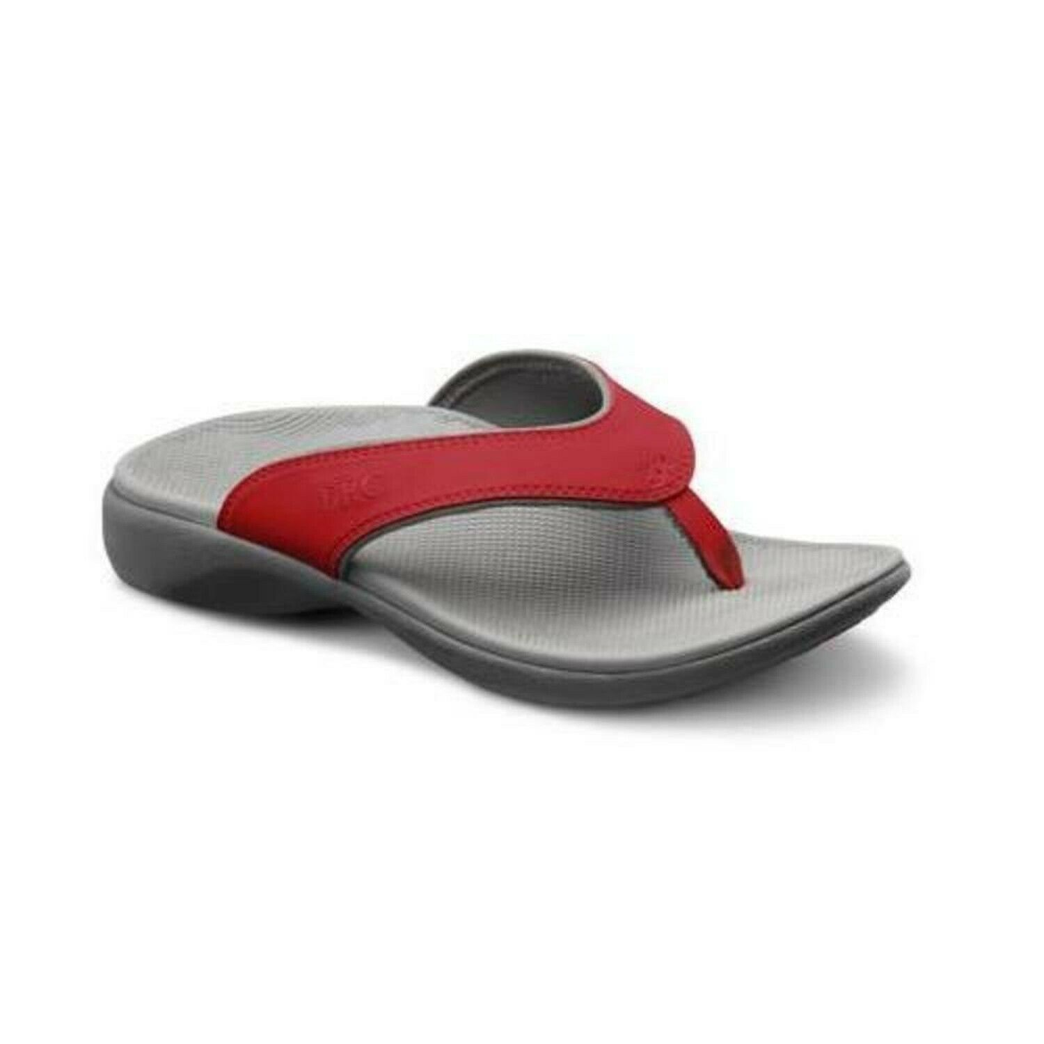 Dr. Comfort Womens Shannon Diabetic Orthotic Thong Slipper  Red 10 (C D) US