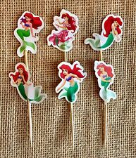 The Little Mermaid Cupcake Toppers Ariel the Mermaid Birthday Party Decorations