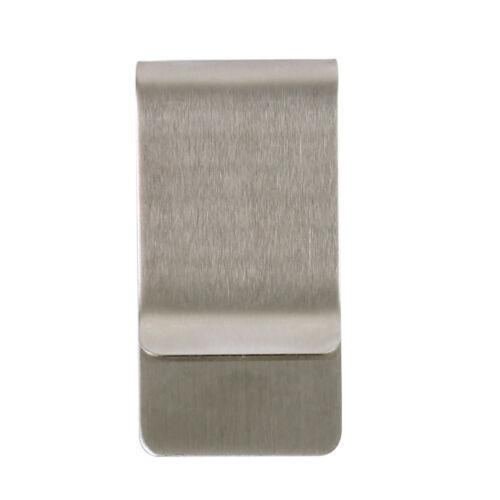 1//2//5//10 Stainless Steel Silver Money Clip Holder Cash Gift Mens Wedding Favour