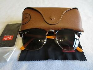 971d0819995a6d Ray Ban Colour mix brown Clubmaster sunglasses. With case. RB 3016 ...