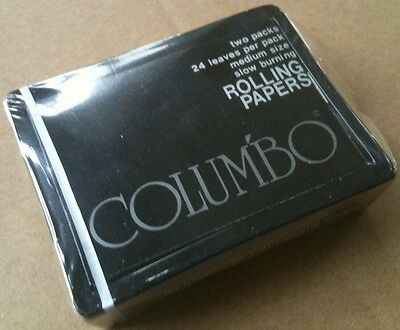 Vtg 1976 COLUMBO Rolling Papers 2 PACK Lot NOS Ruby Rose Fine Rice Taiwan