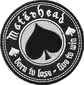 Official-Merch-Woven-Iron-on-PATCH-Metal-Rock-MOTORHEAD-Born-to-Lose-Live-to-Win