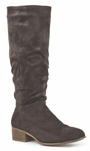 LADIES COWBOY STYLE SOFT FAUX SUEDE PULL ON ANKLE BOOTS BLACK SIZE 4-9