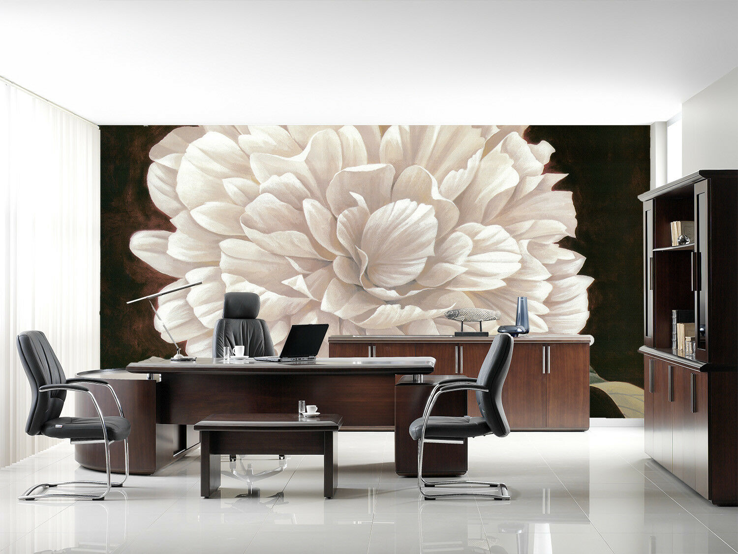 3D Weiß Flower Leaf 66 Wall Paper Wall Print Decal Wall Deco Indoor Mural Lemon