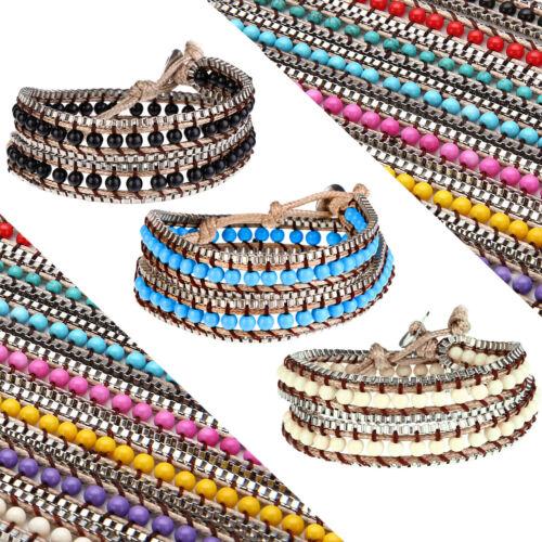 Pulsera Brazalete de perlas pulsera enrollada señora pulsera festival hippie señora Bohemian