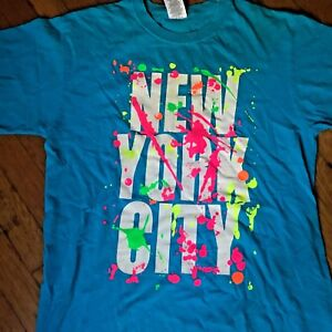 Vintage-Retro-1990-039-s-Graffiti-NEW-YORK-CITY-T-shirt-Tee-Medium-M
