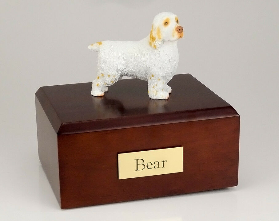 Clumber Spaniel Pet Funeral Cremation Urn Avail in 3 Different Colores & 4 Dimensiones
