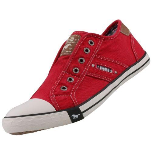 NEU Mustang Herrenschuhe Schuhe Canvas Sneaker Slipper Halbschuhe Freizeitschuhe