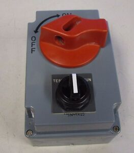 Mennekes me 30ms4a m2psx 30 amp 600v 10hp hdi disconnect for 10 amp motor controller