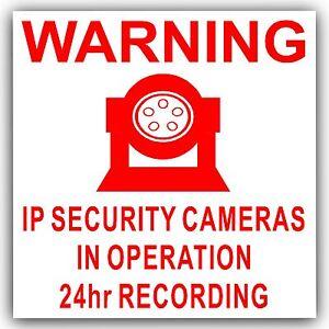 1-x-IP-Camera-Security-In-Operation-Sticker-24hr-Surveillance-CCTV-Sign