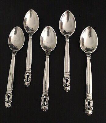 """Acorn by Georg Jensen Sterling Silver Demitasse Spoon 4 1//4/"""""""