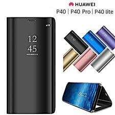 Coque pour Huawei P40 Lite / Pro Flip Original Miroir Ultra Mince Clear View