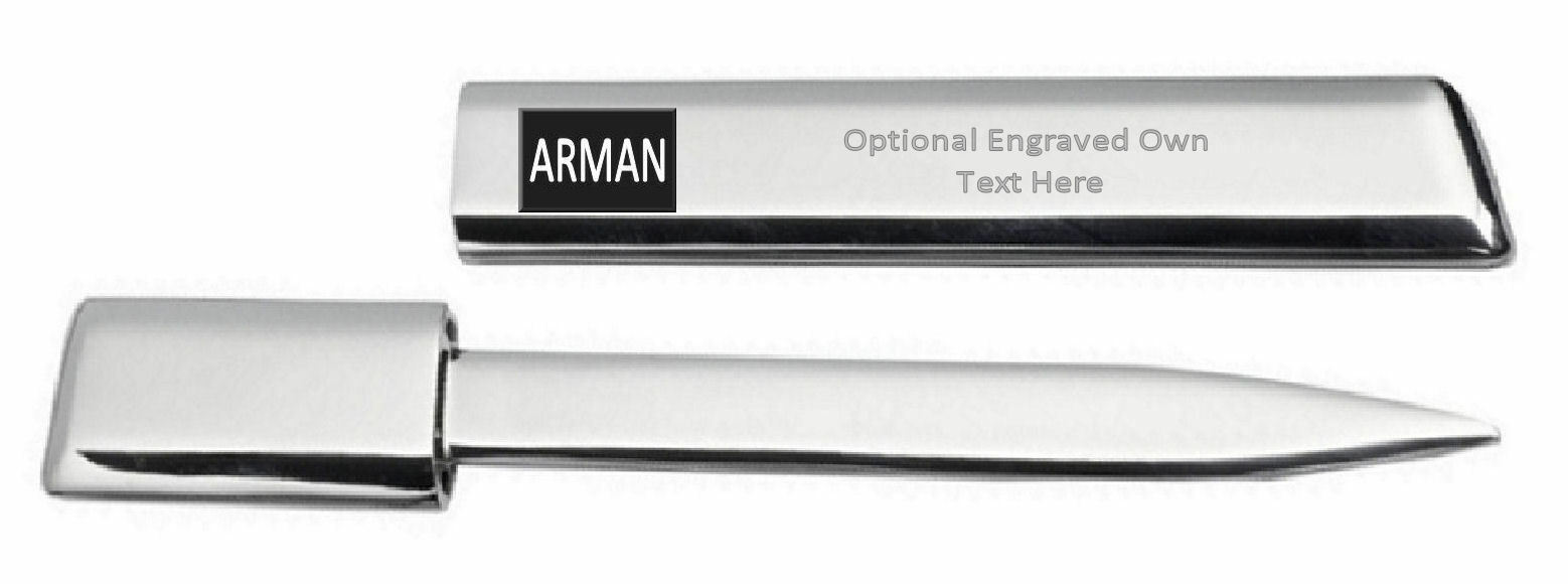 Gravé Ouvre-Lettre Optionnel Texte Imprimé Nom - Arman