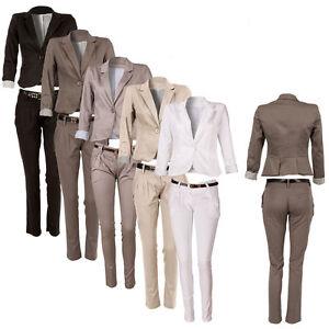 Cotone Di E Posteriore Pantaloni Tre Con Pieghe Completo Blazer Chino zwqEAPq8