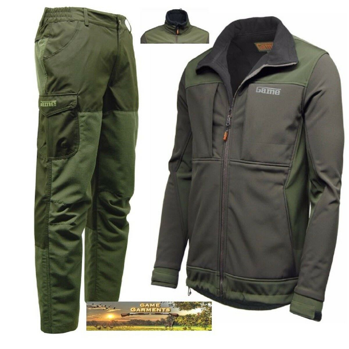 Game Excel Ripstop Trousers & Viper Softshell Jacket Combination Set, Shooting