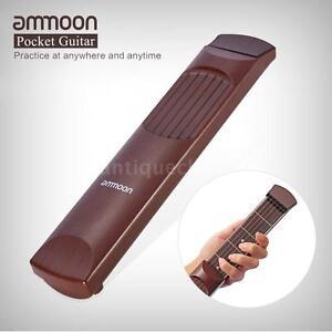 ammoon portable pocket acoustic guitar practice tool 6 string 6 fret e2d0 ebay. Black Bedroom Furniture Sets. Home Design Ideas