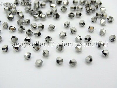 Freeshipping 100Pcs Top Quality Czech Crystal Faceted Bicone Beads 4mm AB Colors