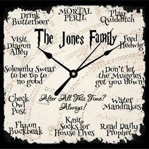 Personalised Harry Potter Quote Working Clock Christmas Birthday