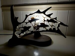 Fallow-Deer-Antler-Lamp-Fish-Group-Design-Handmade-Very-Unique-Gift