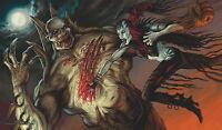 Yugioh Mtg Playmat Artists Of Magic: Nosferatu Vs Zombielord Art By Thomas Baxa