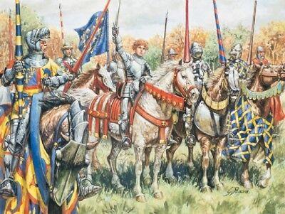 100 Years War French Warriors Figures 1:72 Model Italeri