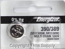 1 pc 390 / 389 Energizer Watch Batteries SR1130W 1130 0%HG