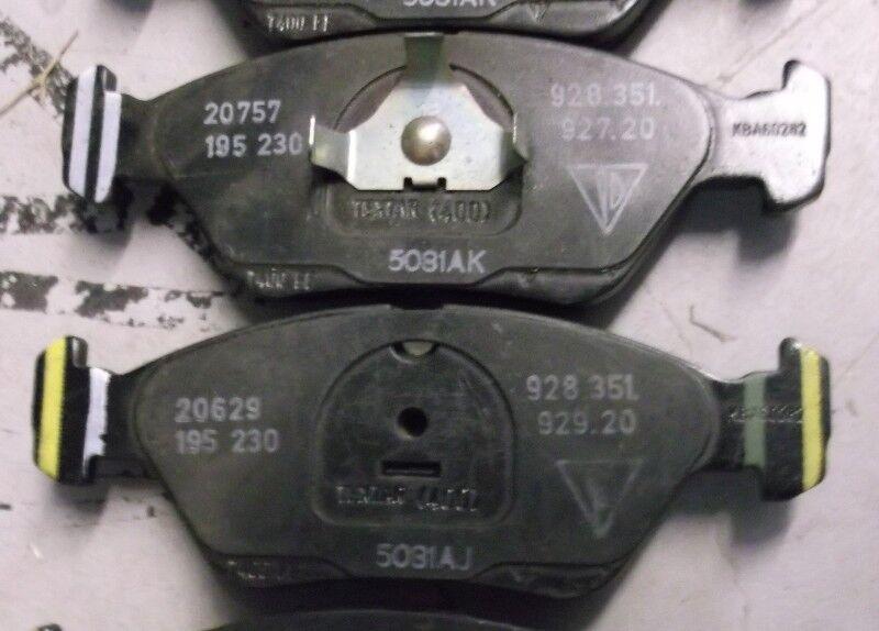 Porsche brake pads original OEM