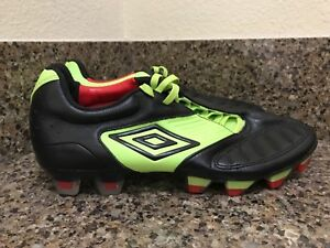 brand new 53aa4 bfd80 Image is loading UMBRO-Geometra-Pro-FG-Black-Green-Soccer ...