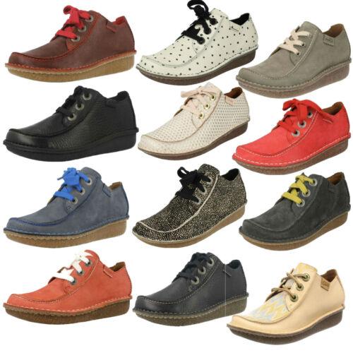Talla Con Cordones Zapatos Clarks Mujer Cuero Estilo Casual Plano Mocasín qHtTpwztx