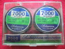 VINTAGE SHAKESPEARE WONDERLINE 2-100 YARD SPOOLS 25 LB TEST FISHING LINE NOS