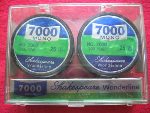 VINTAGE SHAKESPEARE WONDERLINE 2100 YARD SPOOLS 25 LB TEST FISHING LINE NOS