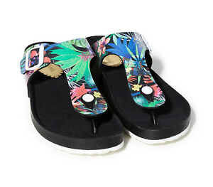 Sandalo Sandalo Shoes donna aperto Tropical Pound Nero Desigual da pPCqq