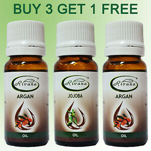 100-Pure-Organic-Argan-Oil-10ml-Jojoba-Rosehip-Anti-Aging-BUY-3-GET-1-FREE