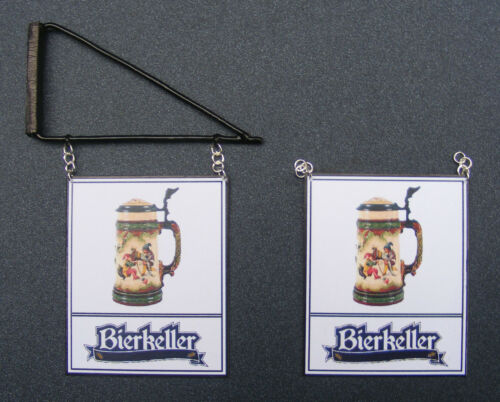 1:12 SCALA bierkeller PUB segno Casa delle Bambole Miniatura INN TAVERNA-Bar Accessorio